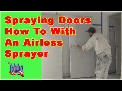 how to paint doors with a paint sprayer spraying interior doors how. Black Bedroom Furniture Sets. Home Design Ideas
