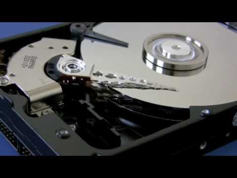 Internal parts of a hard drive