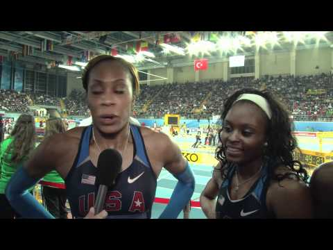 USA women win 4X400m gold at Istanbul World Indoors 2012