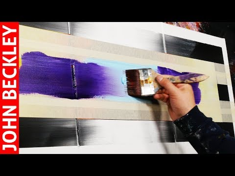 Abstract Painting EASY With Masking Tape   Eternity