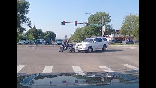 Motorcycle vs SUV head on, July 6th 2018, Loveland, CO
