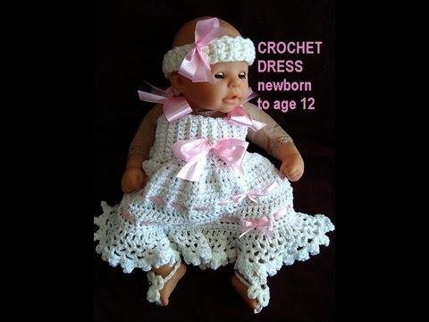 Crochet Pattern For Baby Summer Dress : CROCHET SUNDRESS, newborn to age 12, free crochet pattern ...