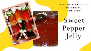 How to Make Sweet Pepper Jelly!  Sweet Pepper Jelly Time!!!
