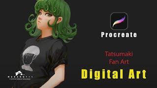 Tatsumaki Fan Art [Procreate]