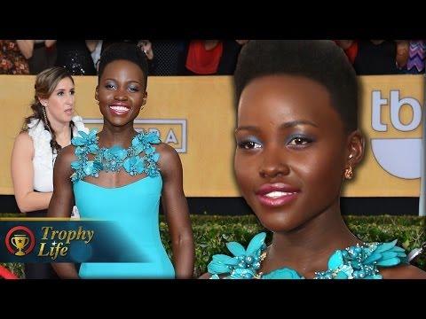 Lupita Nyong'o on the Red Carpet SAG Awards 2014
