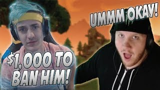 Ninja Pays Tim $1,000 To Ban A Mod In His Chat Because Of This! CDN Loses His Mind...