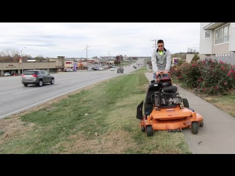 Mowing Vlog #11 Commercial Lawn Care, Motivation- 2015, Picking Up Trash