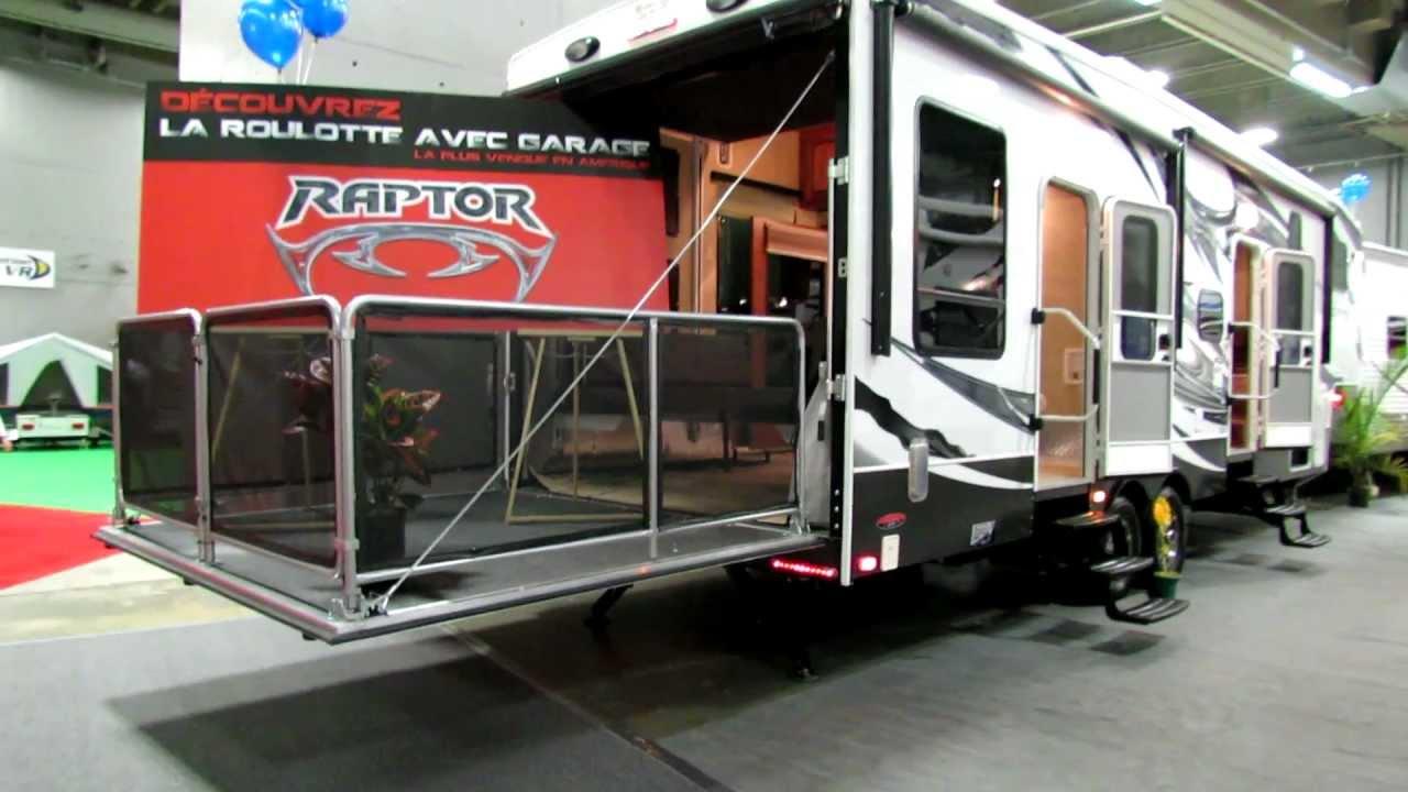 2012 raptor 300mp roulotte caravan avec garage at 2012. Black Bedroom Furniture Sets. Home Design Ideas