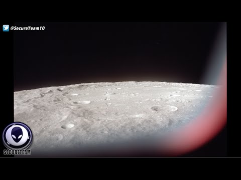 TR3B UFO & Lights Above The Moon In NASA Image! 3/12/16