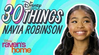 30 Things with Navia Robinson | Raven's Home | Disney Channel