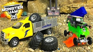 STORY WITH MONSTER TRUCKS THE GOODYEAR TIRE TRUCK BRINGS NEW TIRES
