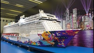 Pronta al battesimo la nuova World Dream. A Hong Kong la più grande replica in Lego del mondo