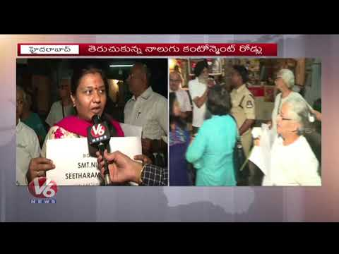 Secunderabad People Rejoice As Four Closed Roads Reopen At Contonment Area | V6 News