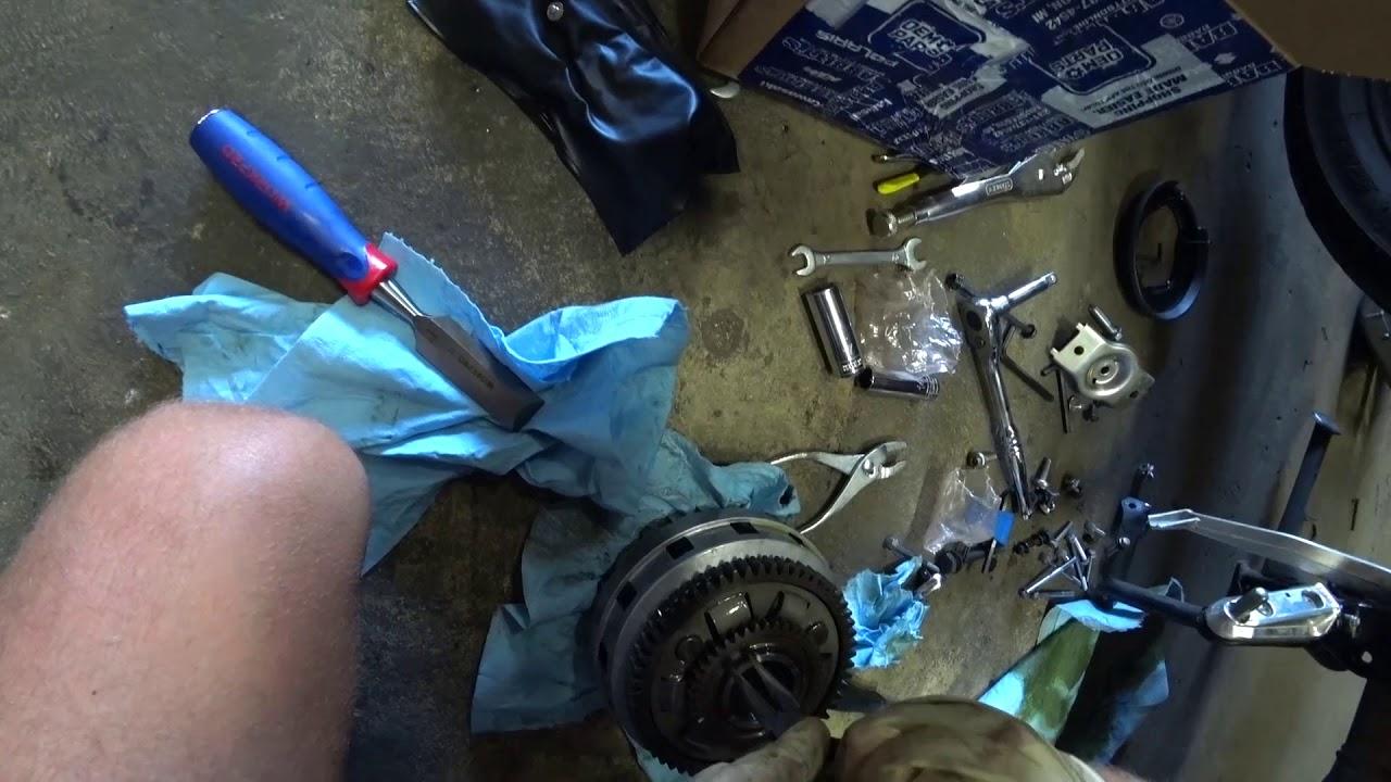 Замена корзины сцепления на мотоцикле Suzuki V-Strom своими руками
