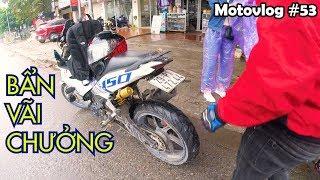 Exciter 150 ko chắn bùn sẽ bẩn thế nào? Hà Nội - Bắc Kạn ngày mưa gió | Motovlog 53