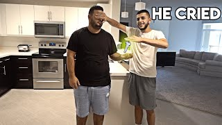 SURPRISING MY BEST FRIEND WITH A NEW HOME! *he cried*