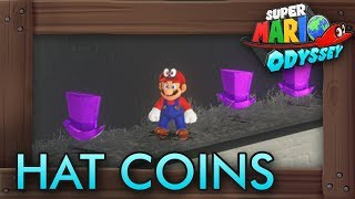 Super Mario Odyssey - All Purple Hat Coins (Cap Kingdom)