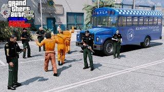 GTA 5 Live Multiplayer Police Roleplay Transporting Criminals From Jail To Court - KUFFS FiveM #363