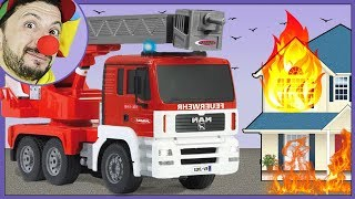 Clown Bob & Construction Vehicles RC Fire Truck / Emergency Firetruck
