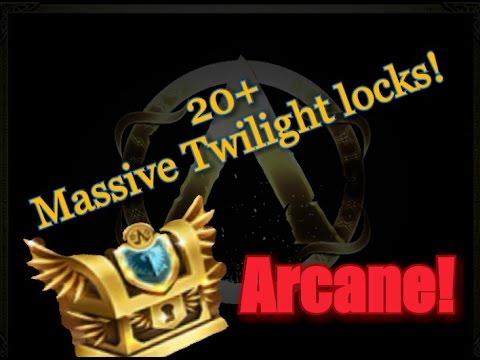 Arcane legends. Opening 20+ Massive Twilight crates!