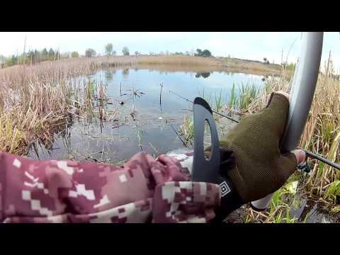весенняя ловля на маховую удочку видео