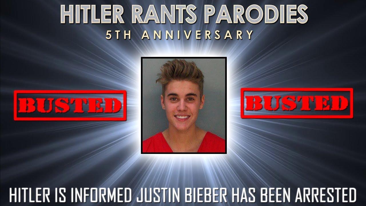 Hitler is informed Justin Bieber has been arrested