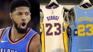 Lakers Puts Paul George Jersey's Up For Sale | Will He Sign To The Lakers This Offseason?