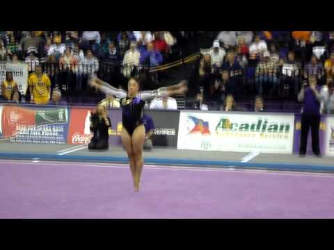 LSU Gymnast, Jessica Savona (Floor Routine) 1/4/13 v NC State