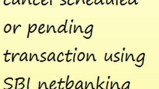 Cancel Scheduled Transaction