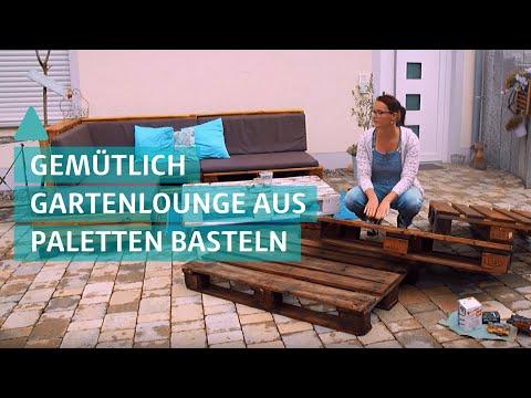 Garten Lounge aus Paletten bauen: Silke bastelt Möbel