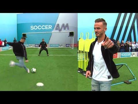 James Maddison vs Samson Kayo | Penalties, volleys, freekick & crossbar challenge | Soccer AM Pro AM