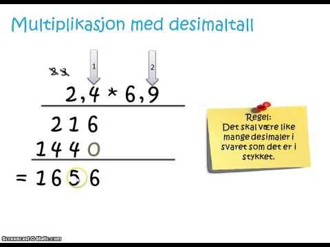 ganging med flersifrede tall