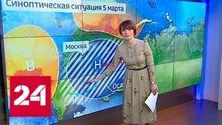"""""""Погода 24"""": снежный циклон уходит из столицы - Россия 24"""