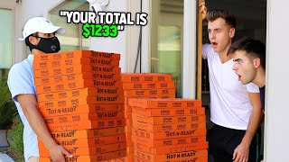 We PRANKED Tal And Adi With 100 PIZZAS! (THEY HAD TO PAY)