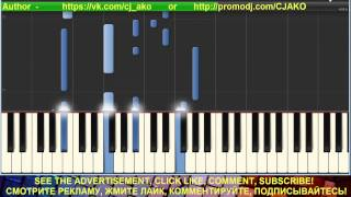 CJ AKO Тебе Synthesia Пианино Красивая мелодия Cover Piano tutorial music easy popular Музыка melody