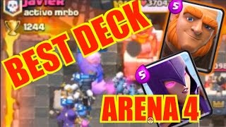 CLASH ROYALE  BEST GIANT WITCH DECK!! ARENA 4 PEKKA'S PLAYHOUSE