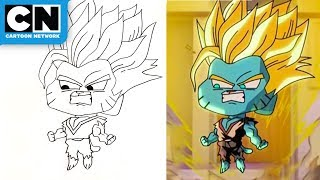 Super Saiyan Gumball Drawing Challenge | The Amazing World of Gumball | Cartoon Network