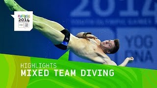 International Mixed Team Diving - Highlights | Nanjing 2014 Youth Olympic Games