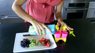 How to Make Healthy Frozen Popsicles for Kids with Fresh Fruit