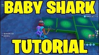 Baby shark - Fortnite music blocks tutorial.Creative mode