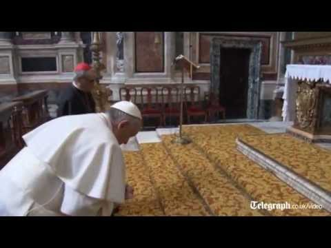 Pope Francis makes first outing as pontiff to pray at Santa Maria Maggiore