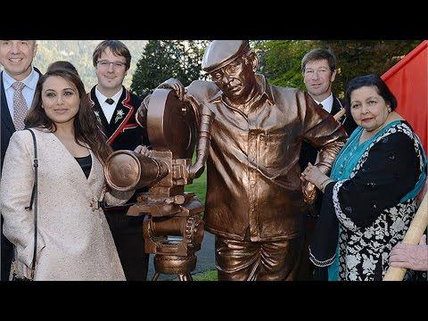 Rani Mukerji Spotted In Switzerland Near The New Statue Of Yash Chopra!