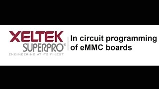 In circuit programming of eMMC boards