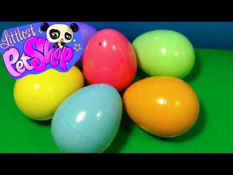 6 Littlest Pet Shop surprise eggs! LPS surprise eggs! Each egg holds a different lovable pet!