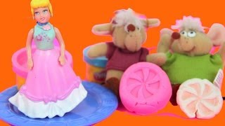 Play Doh Cinderella Feeds Jaq & Gus Mice Sweet Shoppe Sweet Stamp Candy Playset Disney Princess