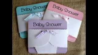 DIY Ideas for homemade baby shower invitations decorations