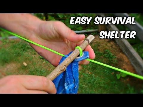 How to Set Up a Shelter Tarp Fastest Way - Survival Hack