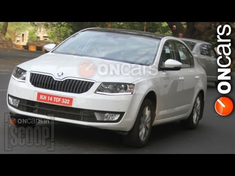 Scoop: 2013 Skoda Octavia caught on test in India