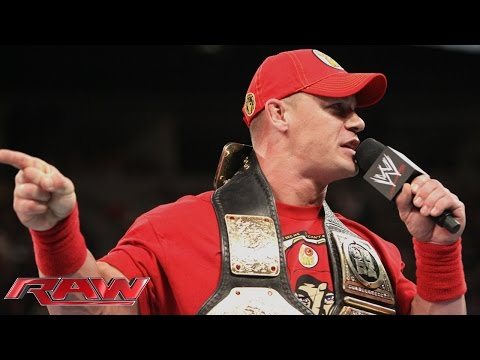 John Cena Calls Out Brock Lesnar: Raw, Aug. 11, 2014 video