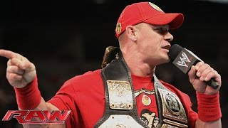 John Cena calls out Brock Lesnar: Raw, Aug. 11, 2014